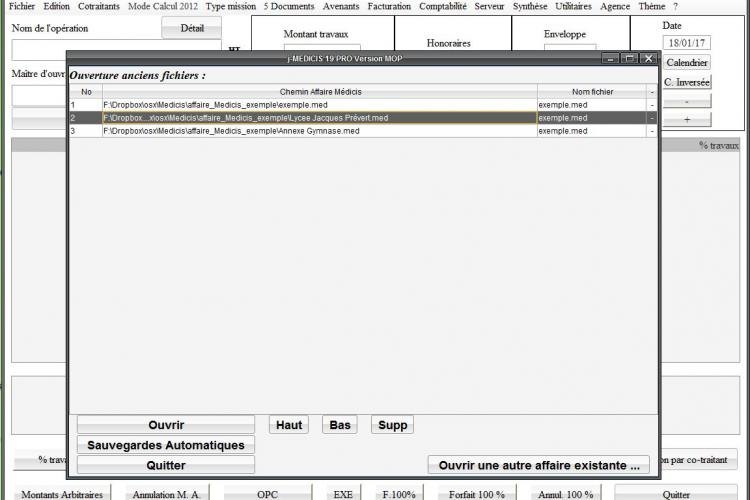 Gestion m dicis for Calcul honoraires architecte